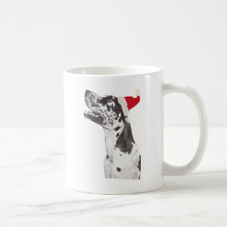 Great Dane Santa Hat Coffee Mug