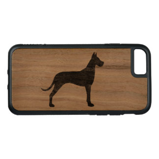 Great Dane Silhouette Carved iPhone 8/7 Case