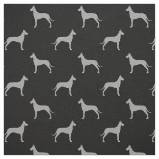 Great Dane Silhouettes Pattern Fabric