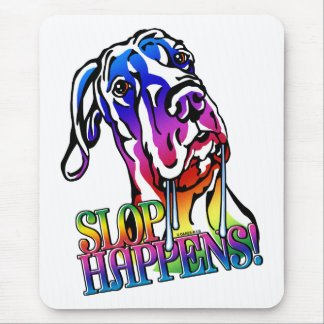 Great Dane Slop Happens Bright UC Mouse Pad
