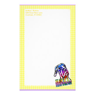Great Dane Slop Happens Bright UC Personalized Stationery