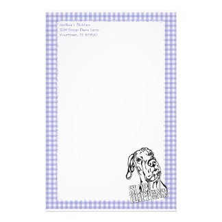 Great Dane Slop Happens BW UC Personalised Stationery