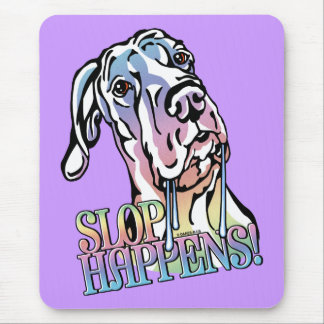Great Dane Slop Happens Pastel UC Mousepad
