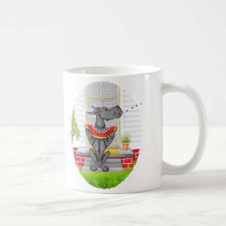 Great Dane SPIT Black Coffee Mugs