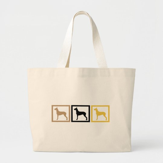 Great Dane Squares Large Tote Bag