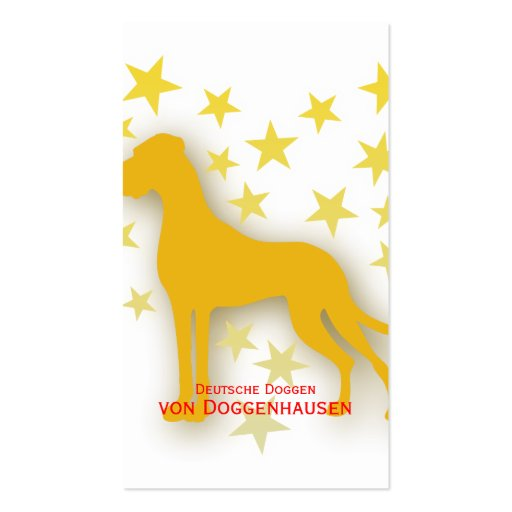 Great Dane Starheart Business Cards