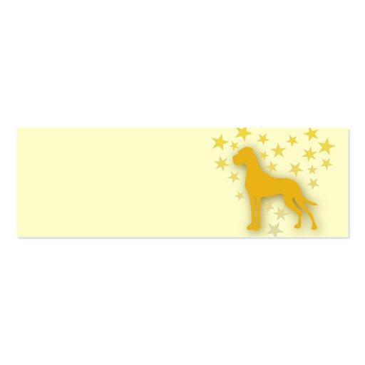 Great Dane Starheart Business Card Template