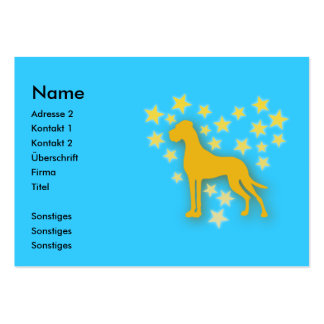Great Dane Starheart Large Business Cards (Pack Of 100)