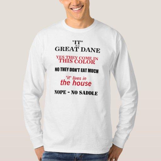 Great Dane Walking Answers T-shirts