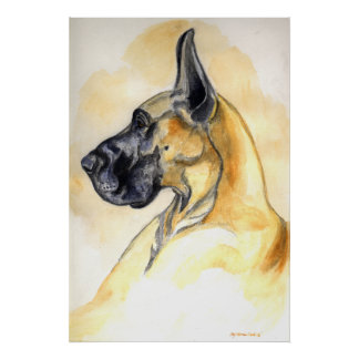 Great Dane Wall Print Poster