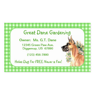 Great DaneFawn Floral Business Cards