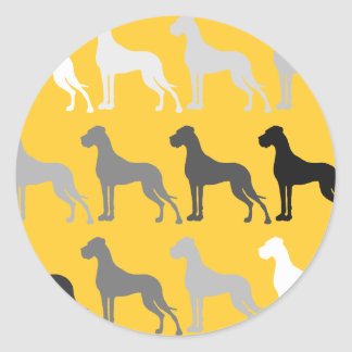 Great Danes Classic Round Sticker