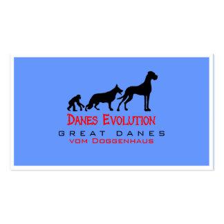 Great Danes Evolution Pack Of Standard Business Cards