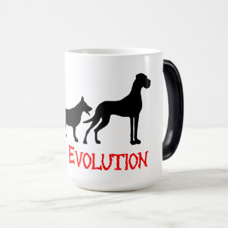 Great Danes Evolution is funny Magic Mug