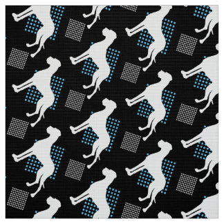 Great Danes on black Fabric