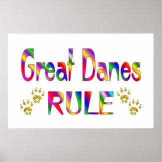 Great Danes Rule Poster