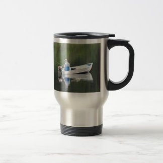 Great Day Fishing Man in Boat Travel Mug