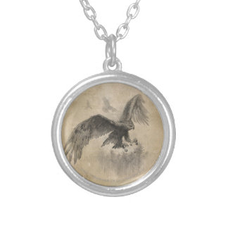 Great Eagles Sketch Silver Plated Necklace