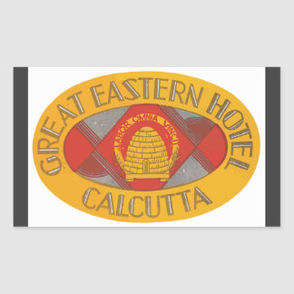 Great Eastern Hotel Calcutta, Vintage Rectangular Sticker