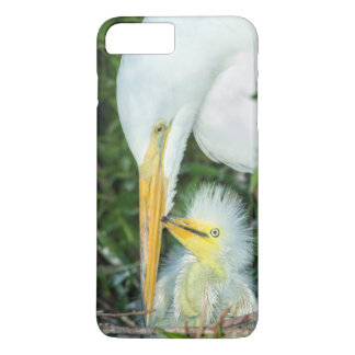 Great Egret and baby egret at Gatorland iPhone 8 Plus/7 Plus Case
