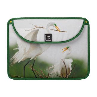 Great Egret (Ardea Alba) Breeding Activity Sleeve For MacBooks