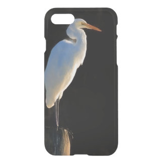 Great Egret Bird on a Pole iPhone 7 Case