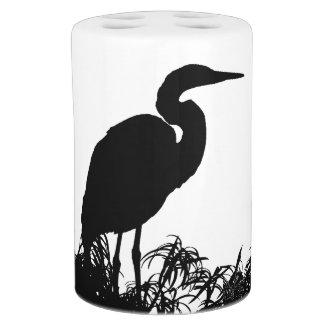 Great Egret Bird Wildlife Animals Bath Set