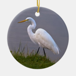 Great Egret Christmas Ornament