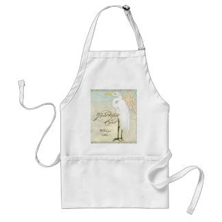Great Egret Coastal Beach - Home Decor Apron