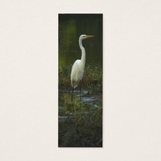Great Egret Photo Bookmark Profile Card