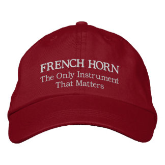 Great Embroidered French Horn Music Cap Embroidered Baseball Cap