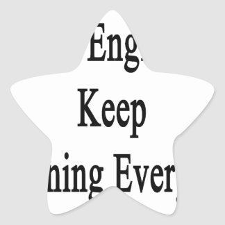 Great Engineers Keep Learning Everyday Star Sticker