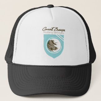 Great Escape Mustang Sanctuary Full Logo Trucker C Trucker Hat