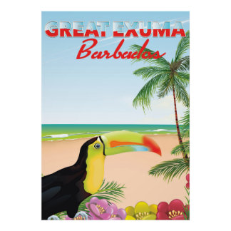 Great Euxma Barbados travel poster