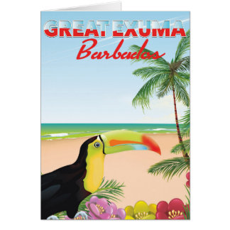Great Euxma Barbados travel poster Card