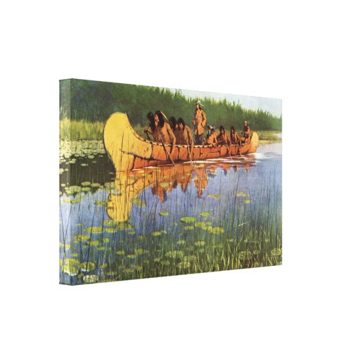 Great Explorers by Remington, Vintage Frontiersmen Gallery Wrapped Canvas