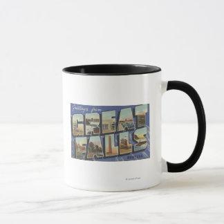 Great Falls, Montana - Large Letter Scenes 2 Mug
