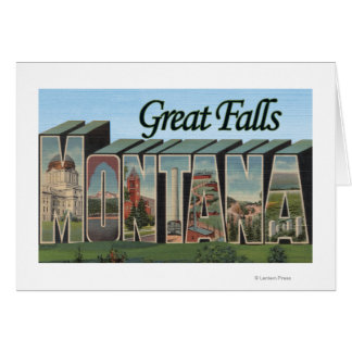 Great Falls, Montana - Large Letter Scenes Card