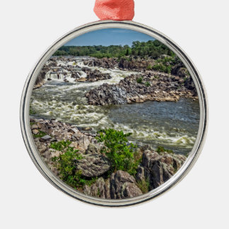 Great Falls National Park Silver-Colored Round Decoration