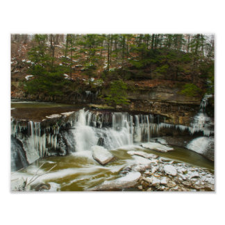 Great Falls of Tinker Creek in Winter, Ohio Poster