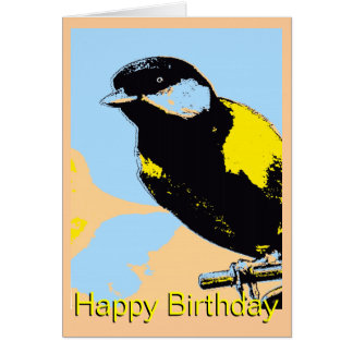 Great Finch Pop Art Birthday Card
