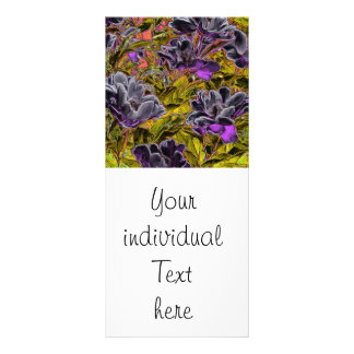 great flowers in purple (I) Rack Card Design