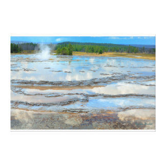 Great Fountain Geyser on Firehole Lake Drive Canvas Prints