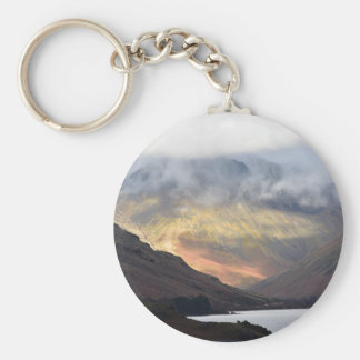 Great Gable from Wast Water Basic Round Button Key Ring
