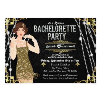 Great Gatsby Art Deco Bachelorette Invitation