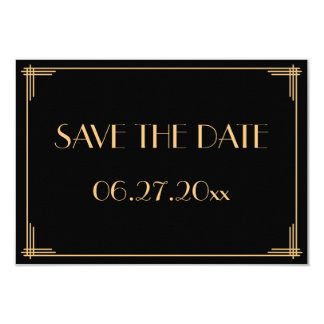 Great Gatsby Art Deco Wedding Save The Date Card