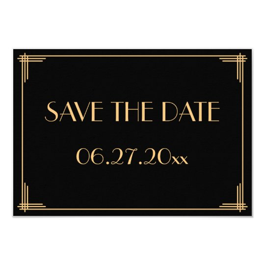 Great Gatsby Art Deco Wedding Save The Date
