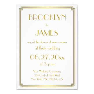 Great Gatsby Invitations Announcements