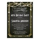 Great Gatsby Birthday invitation / Art Deco invite