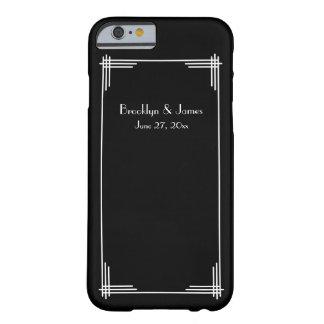 Great Gatsby Black Art Deco Wedding iPhone 6 Cases
